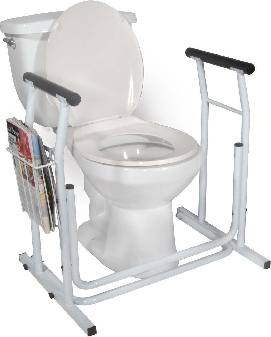 Turn your bidet into a bidet toilet seat with arms or safety rails