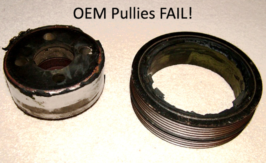 This is what can happen to OEM pullies.