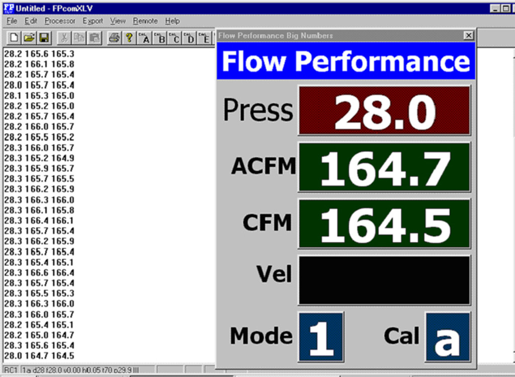 OEM Catt'ed Up Pipe Flow Bench Test Results