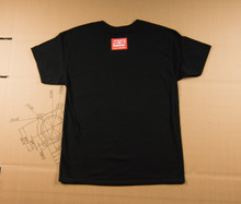 Torch and Caliper Flag T-Shirt - Black