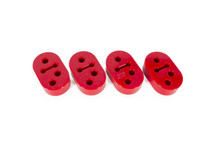Two Position Exhaust Hanger - 12mm, Polyurethane, Set of 4