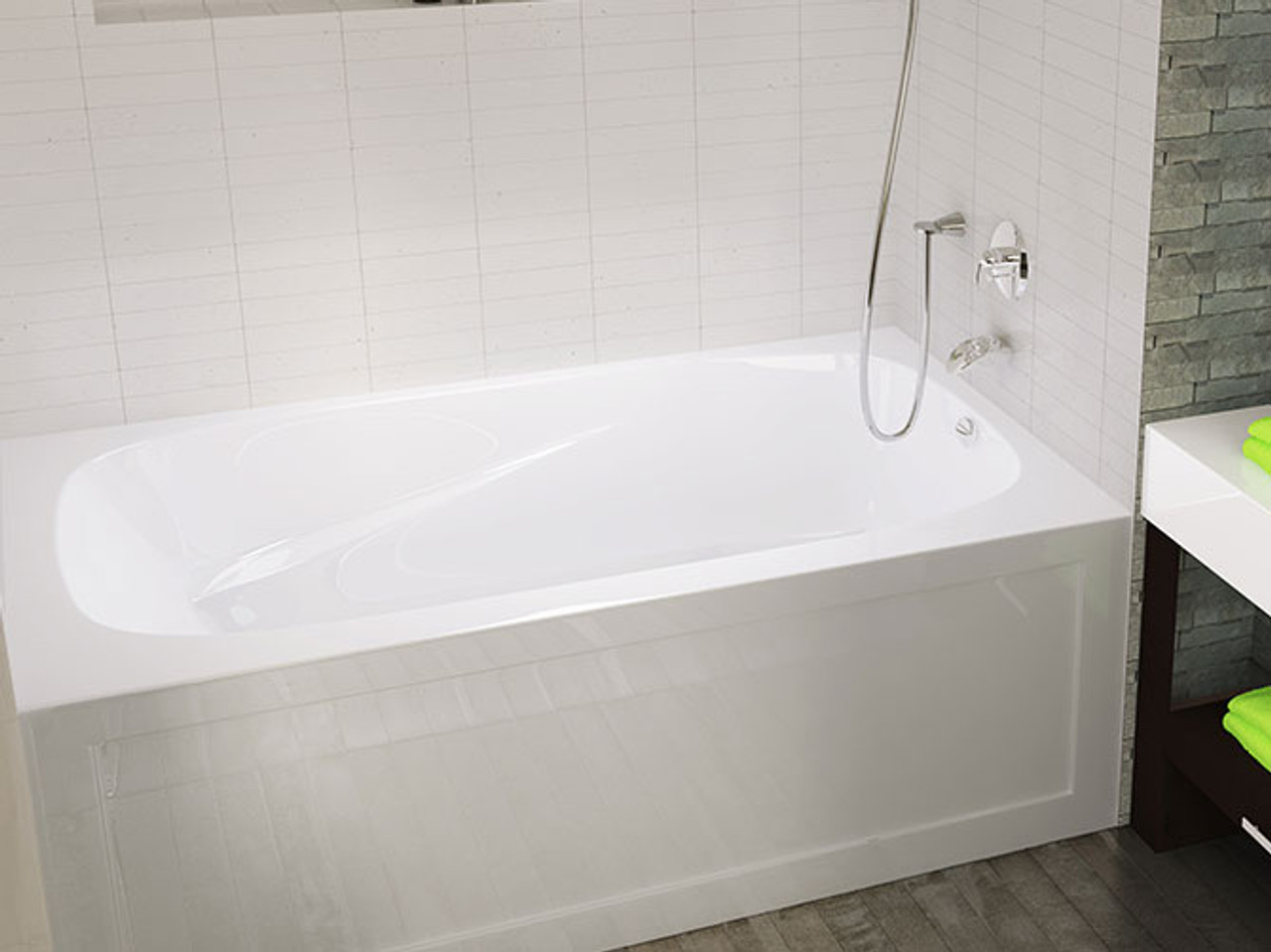 Mirolin Phoenix 60 Quot X 30 Quot Skirted Right Hand Bath Tub