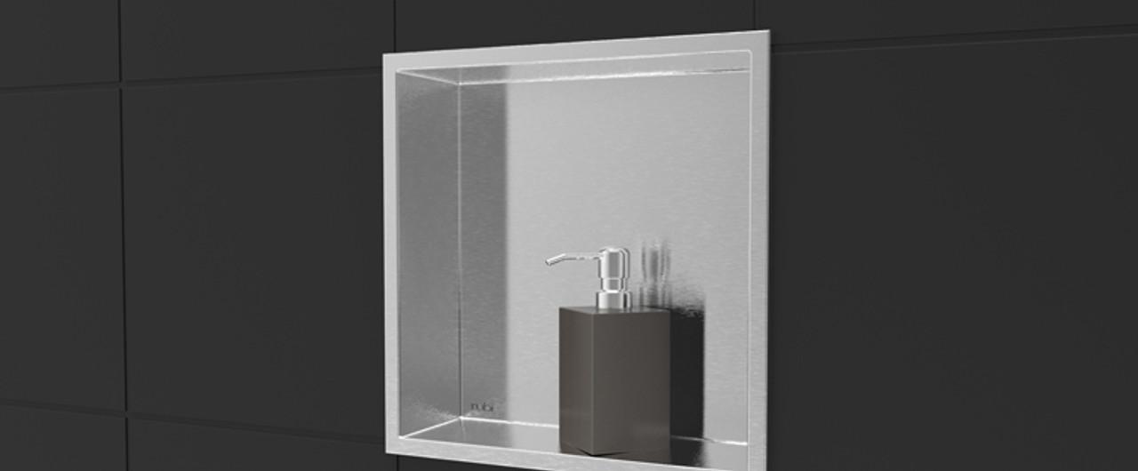 Nikia Rubi Shower Niche Shelf Stainless Rnk12 Ib York Taps