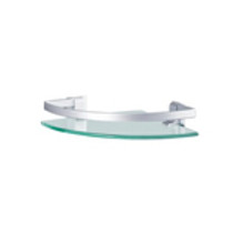 Elegant Glass Corner Bathroom Shelf