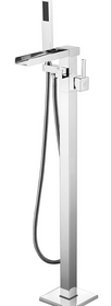 Royal Waterfall Freestanding Tub Filler Chrome
