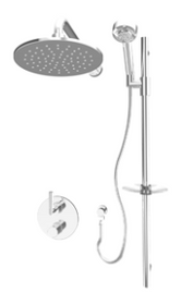 Rubi Dana Bathroom Thermostatic Shower System Chrome Finish