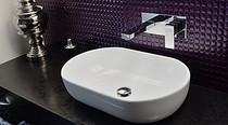 Rubi Quatro Wall-mounted single-hole basin faucet