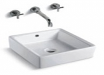 "Ava Countertop Over Mount Bathroom Sink 16.5"" x 16.5"" x 5.9"""