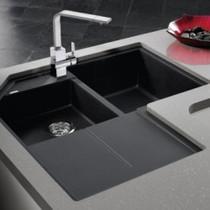 BLANCO METRA SILGRANIT 9E double bowl corner sink
