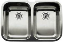 BLANCO SUPREME U 2 Stainless steel double bowl undermount sink