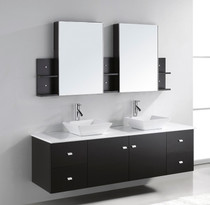 "Arizona 72"" Wall Mount Vanity White"