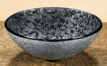 Onyx Overmount Glass Vessel Sink Bowl