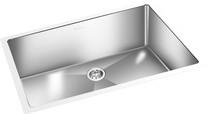 Square Sink Kitchen Under Mount Satin 30'' x 18''