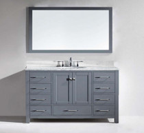 "Armada 60"" Vanity Single Sink Ice Gray"