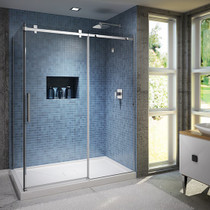 "Kalia Rollax Square Shower Glass Enclosure 60''X 36""X 77''"
