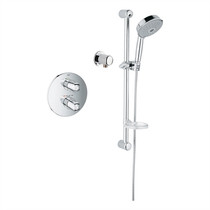 Grohe 122627 GrohTherm 1000 Single Function Thermostatic Shower Kit in StarLight Chrome