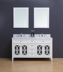 "Casa 72"" Double Sink Bathroom Vanity White"