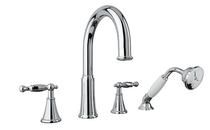Rubi Qabil Tub Filler Faucet with Handshower Chrome RAR24