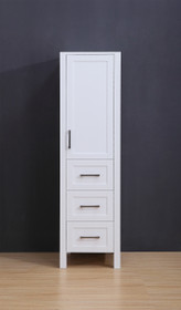 "Armada Side Column Linen Tower White 68"" H x 19 x 22"" D"