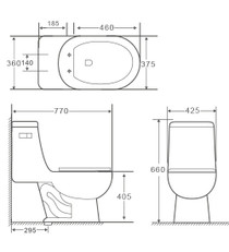Crown Rolan Single Flush One Pc Toilet