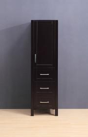 "Armada Side Column Linen Tower Espresso 68"" H x 19 x 22"" D"
