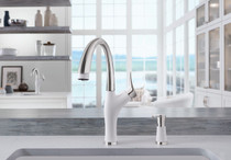 Blanco 442028 Artona Silgranit kitchen faucet in stainless white finish