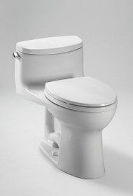 Toto Eco Supreme MS863113E#01 Vitreous China Lever Handle Floor Mount Round 1-Piece Toilet, 1.28 gpf