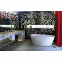 Maax Bath 105359-000-001 Jazz 6636 Acrylic Centre Drain 2-Piece Freestanding Bath Tub