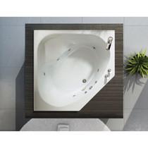 Maax Bath Acrylic Centre Drain Tandem 6060 Bathtub, 47 - 71 gal, 60 in. L x 60 in. W x 19 in. H, White