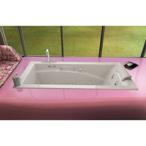 Maax Bath Optik 6032 Acrylic End Drain Alcove Rectangular Bathtub, White