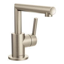 Moen Arris Brushed Nickel One-Handle Bathroom Faucet Brushed Nickel Finish