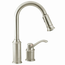 Moen Aberdeen 1-Handle Pull-Down Spray Kitchen Faucet Classic Stainless