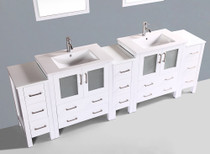"Brantford 101"" Bathroom Vanity White"