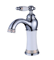 Royal Versace Chrome & White Bathroom Faucet