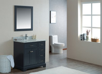 "Cambridge 36"" Bathroom Vanity Satin Grey"