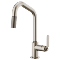 BRIZO LITZE™ PULL-DOWN FAUCET WITH ANGLED SPOUT AND INDUSTRIAL HANDLE STAINLESS STEEL