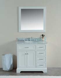 "Cambridge 36"" Bathroom Vanity White"