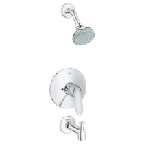 Grohe Agira Shower And Tub Complete Chrome Finish