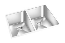 "GEM DOUBLE KITCHEN SQUARE SINK UNDERMOUNT 29"" x 20"""