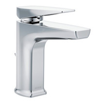Moen Via One-Handle Low Arc Bathroom Faucet Chrome Finish