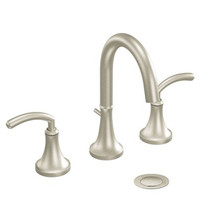 Moen Icon Two-Handle High Arc Bathroom Faucet Brushed Nickel Finish