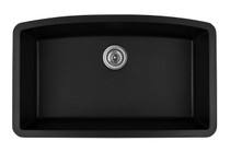 "Karran Extra Large Single Bowl Undermount Kitchen Sink Black Finish 32-1/2"" x 19-1/2"""