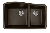 "Karren Double Bowl Undermount Kitchen Sink Brown Finish 33-1/2"" x 20-5/8"""
