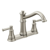 Moen Belfield Two-Handle High Arc Kitchen Faucet Spot Resist Stainless Finish