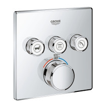 Grohe Grohtherm SmartControl Triple Function Thermostatic Trim with Control Module Chrome Finish