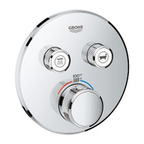 Grohe Grohtherm SmartControl Dual Function Thermostatic Trim with Control Module Chrome Finish - 29137000