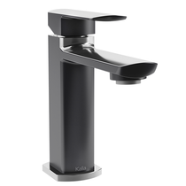 Kalia Grafik Single Hole Lavatory Faucet Black and Chrome Finish