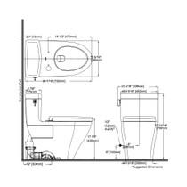 TOTO MS624124CEFG Legato One Piece Elongated Toilet Washlet Connection Cotton