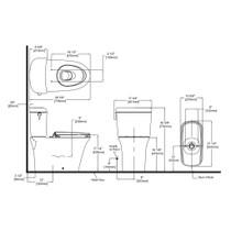 TOTO CST484CEMFG Maris Dual Flush Two Piece Elongated Toilet Cotton