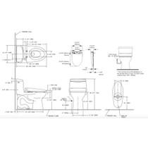 TOTO MW604574CEFG UltraMax II WASHLET S300e One Piece Toilet Cotton